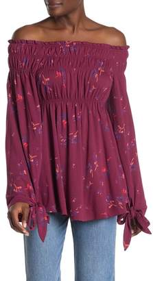 Free People Bonjour Off-the-Shoulder Printed Tunic