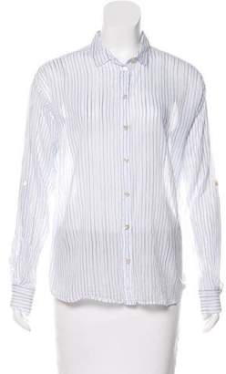 Closed Long Sleeve Button-Up Top