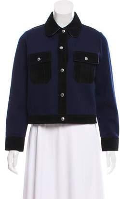 Louis Vuitton Wool Suede-Trimmed Jacket