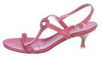 Loro Piana Leather T-Strap Sandals