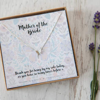 Wedding in a Teacup Butterfly Or Bee Necklace On Personalised Gift Card