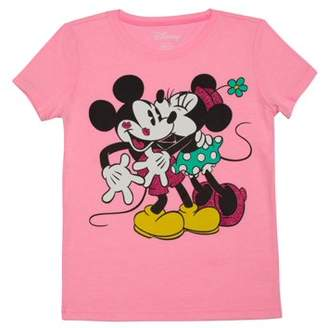 Minnie Mouse Girls' Minnie and Mickey Graphic T-Shirt