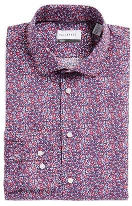 F&F CALIBRATE Trim Fit Floral Dress Shirt