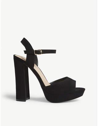 Office Hunk faux-suede platform sandals