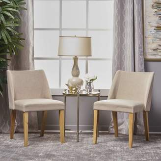 Noble House Jolene Wheat Fabric Side Chairs (Set of 2)