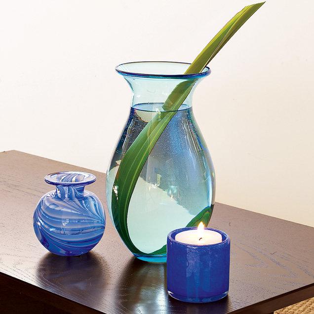 Artisanal Vase Collection, Blue