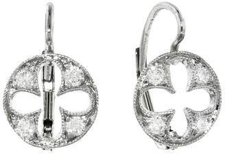 Cathy Waterman Four Petal Cut Out Earrings - Platinum