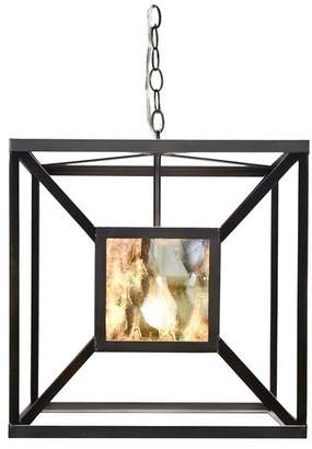 Worlds Away Iron Box Chandelier Pendant