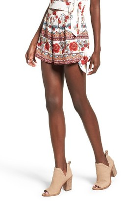 Women's Band Of Gypsies Rose Print Shorts $48 thestylecure.com