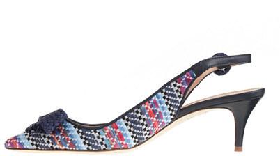 J.Crew Collection Dulci raffia slingback kitten heels