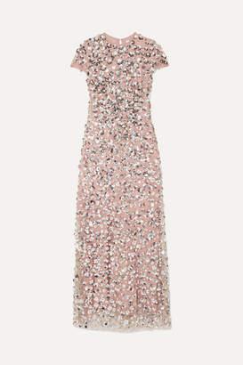Carolina Herrera Embellished Tulle Gown - Silver