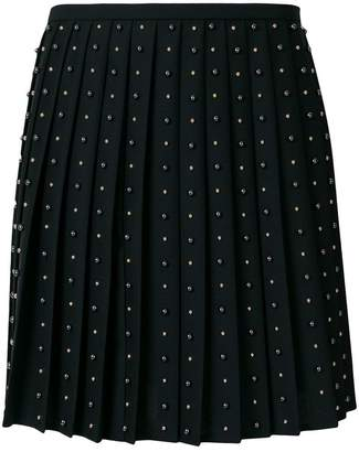 Versace studded pleated skirt