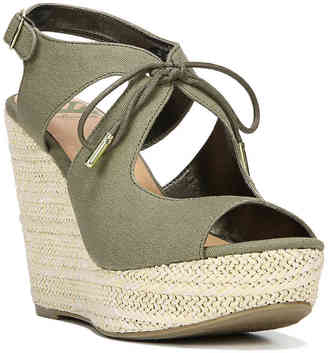 Women's Vicky Wedge Sandal -Olive Green $59 thestylecure.com