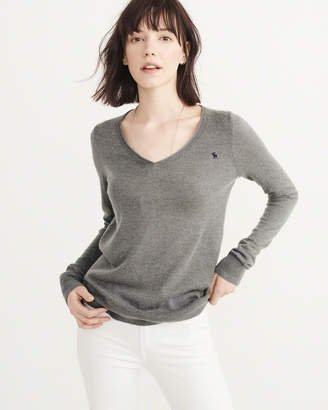 Abercrombie & Fitch Cashmere Silk V-Neck Sweater