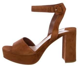 Miu Miu Suede Platform Sandals w/ Tags