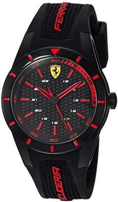 Ferrari Men's 'RedRev' Quartz Stainless Steel and Rubber Casual Watch