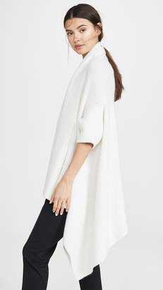 TSE Draped Cashmere Blanket Vest