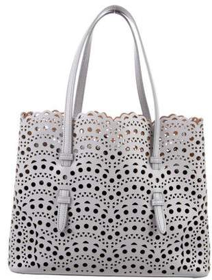 Alaia Laser-Cut Leather Tote