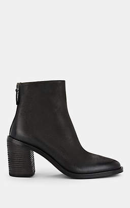 Marsèll Women's Brushed Leather Ankle Boots - Black