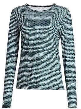 Proenza Schouler Printed Jersey Long-Sleeve Shirt