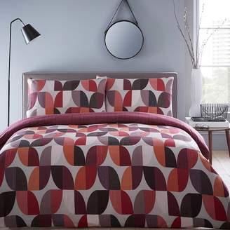 Kaleidoscope Abstract Berry Duvet Cover & Pillowcase Set