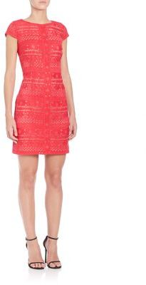 Laundry by Shelli Segal Embroidered Lace Dress $195 thestylecure.com