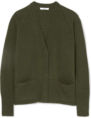 Vince Wool And Cashmere-blend Cardigan - Army green