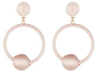 Panacea 14K Gold Light Pink Wrapped Hoop Earrings