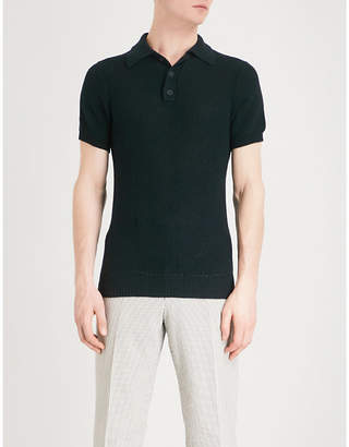 Richard James Honeycomb knitted polo shirt