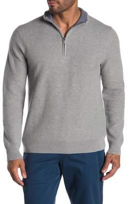 Brooks Brothers Honeycomb Knit Half Zip Sweater