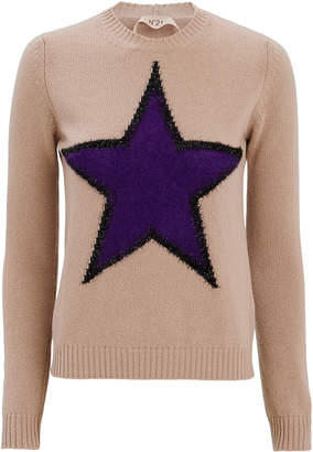 No.21 No. 21 Star Front Sweater