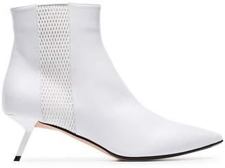 Ballin Alchimia Di white libra 55 mesh detail leather boots