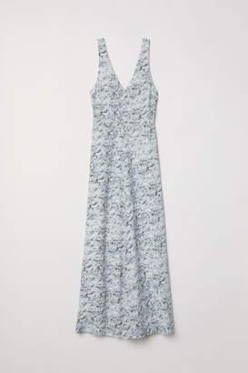 H&M Long Silk Dress - White