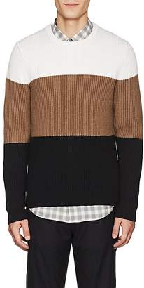Theory Men's Colorblocked Rib-Knit Wool Sweater