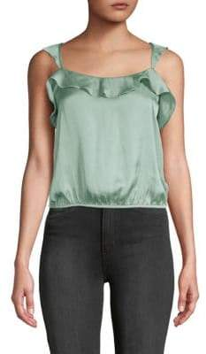 ASTR the Label Ruffled Squareneck Tank Top