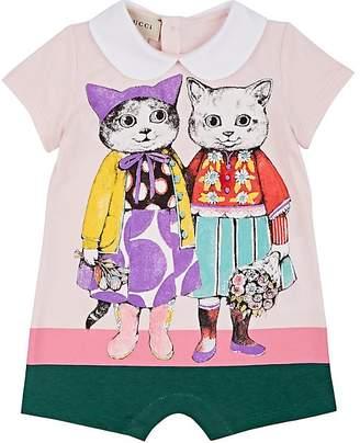 Gucci Infants' Kitten-Friends Cotton Romper