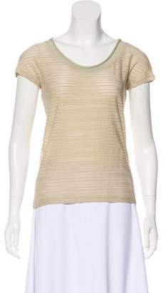 Armani Collezioni Textured Striped Top w/ Tags