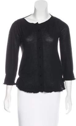 Gucci Cashmere Button-Up Top