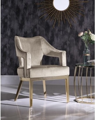 Chic Home Danu Velvet Upholstered Swoop Arm Accent Chair