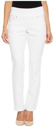 Jag Jeans Petite Petite Peri Straight Pull-On Denim Jeans in White Women's Jeans