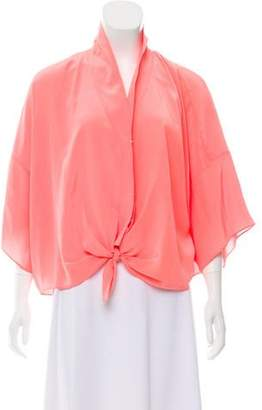 Elizabeth and James Silk Tie Blouse