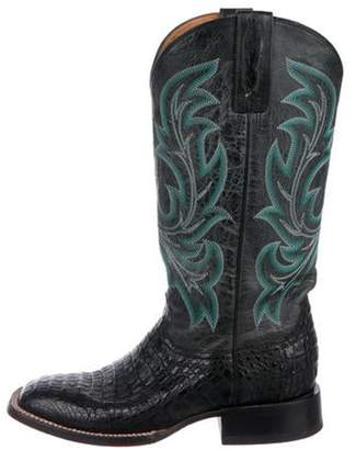 Lucchese Caiman Western Boots Black Caiman Western Boots