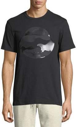 ... Moncler Tonal Camouflage Logo T-Shirt, Black