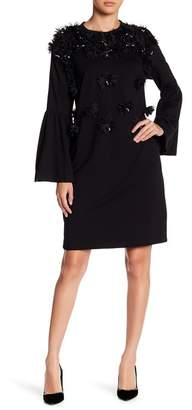 CQ by CQ Flower Applique Long Bishop Sleeves