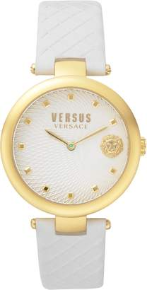 Versace VERSUS  Buffle Bay Leather Strap Watch, 36mm