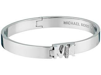 Michael Kors Iconic Hinged Logo Bangle Bracelet with Hint of Glitz Bracelet