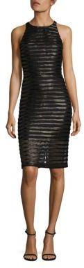Parker Braelyn Leather-Trim Lace Dress $298 thestylecure.com
