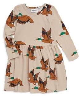 Mini Rodini Baby Girl's, Little Girl's& Girl's Duck Fit-&-Flare Dress