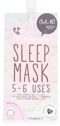 Moisturising sleep mask