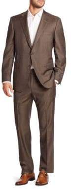 Saks Fifth Avenue COLLECTION BY SAMUELSOHN Classic-Fit Two-Button Wool Suit